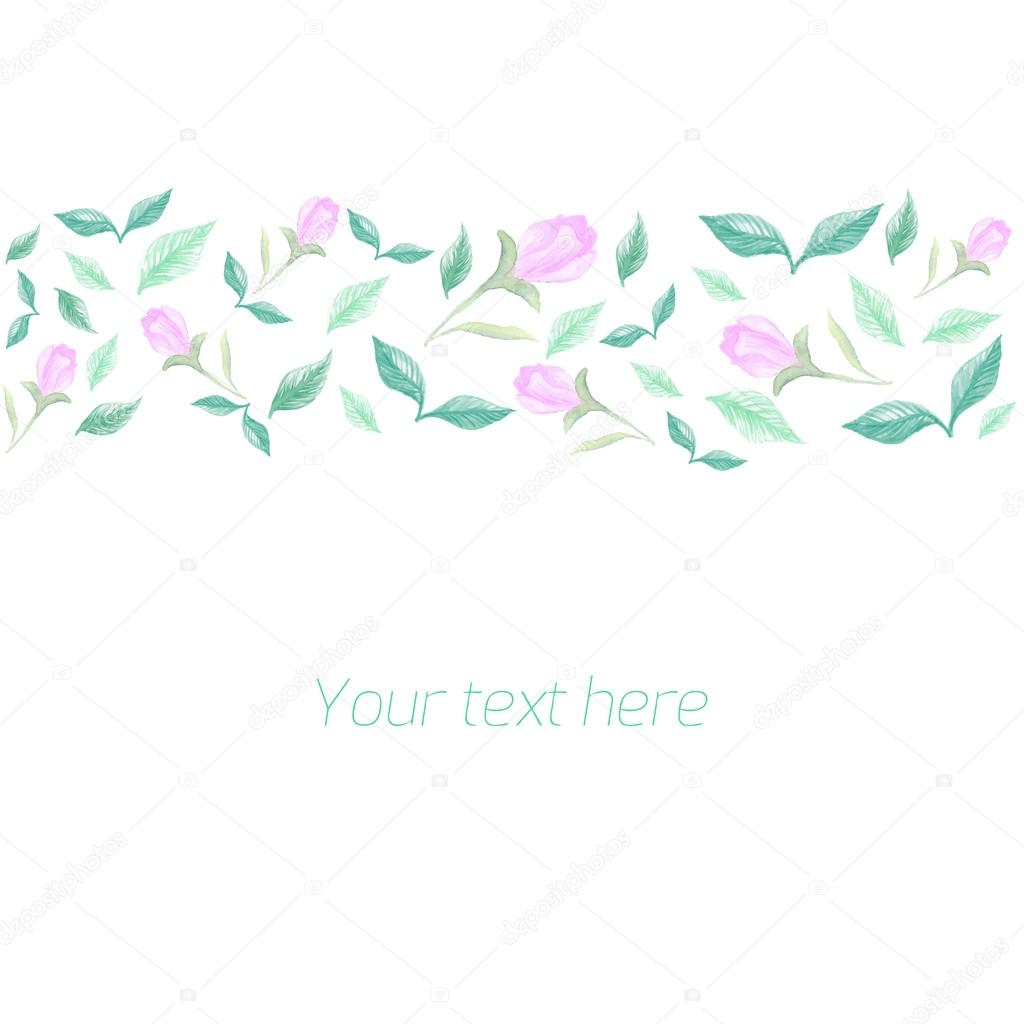 Spring floral ornament with text placeholder