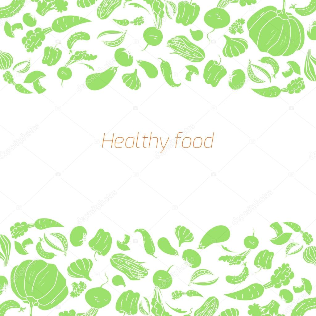 Text placeholder green vegetables background