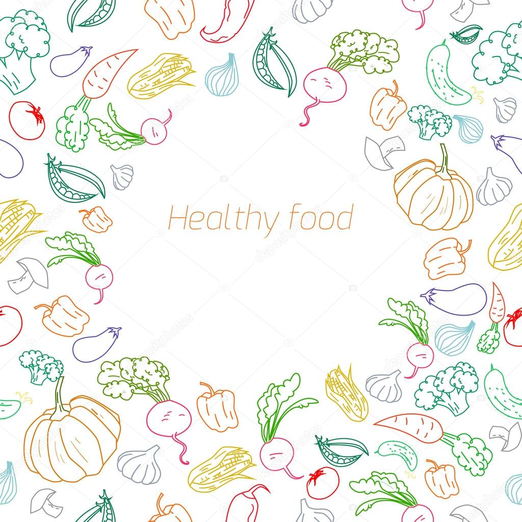 Text placeholder healthy  vegetables background