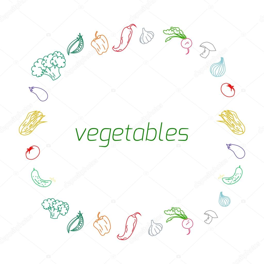 Vegetables text background