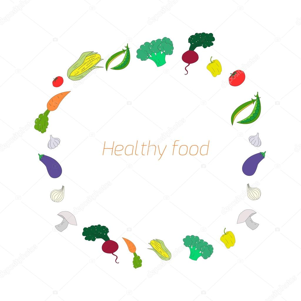 Vegetables text background 2