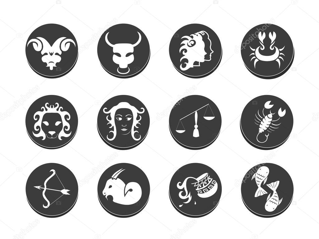 Ilustracja Wektorowa Szablon Tatuaż Znak Zodiaku Grafika
