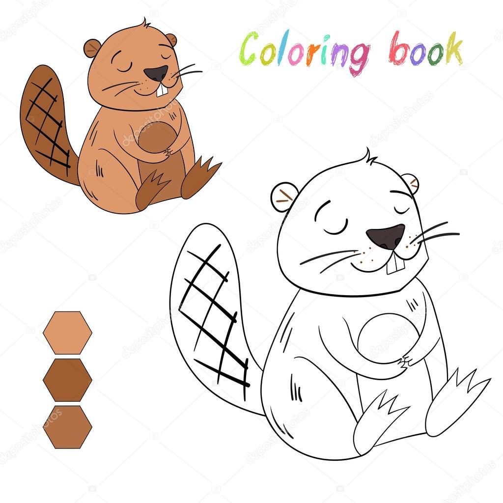 Kitap Kunduz Boyama Oyunu Için Düzen çocuklar Stok Vektör