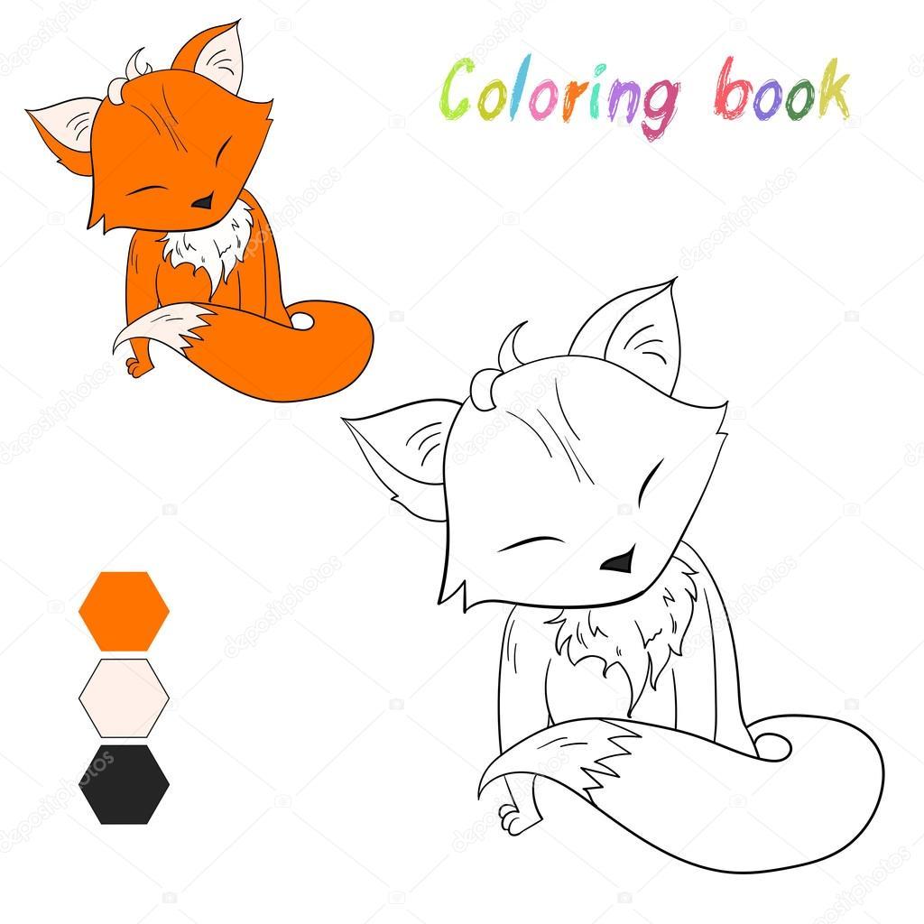Disegni Da Colorare Volpe Libro Bambini Layout Per Gioco