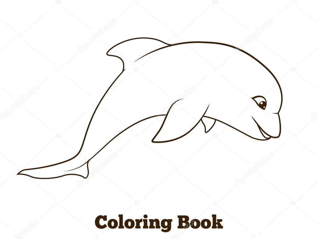 Dibujo Delfin Para Colorear E Imprimir: Dibujo De Delfin Para Colorear. Beautiful Dibujos Para