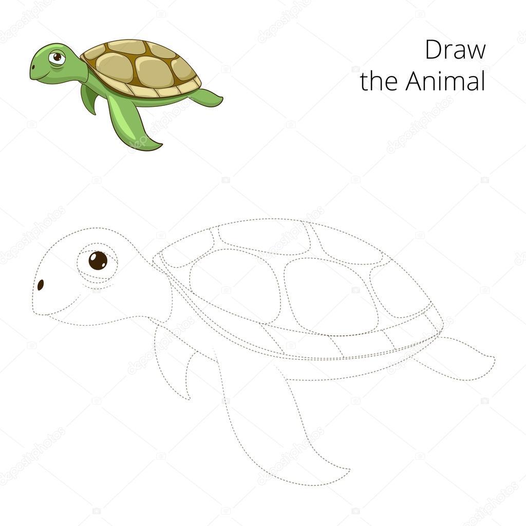 schildkröte zeichnen comic