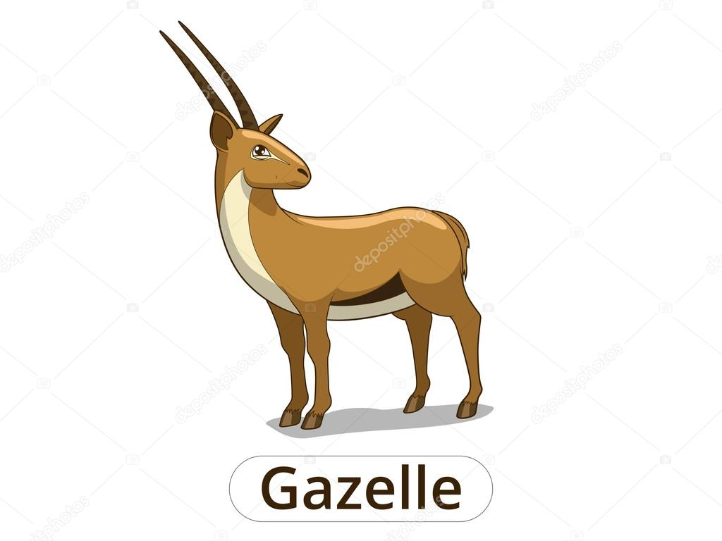 Ilustraci n de dibujos animados de la sabana africana de gacela archivo im genes vectoriales - Gazelle dessin ...