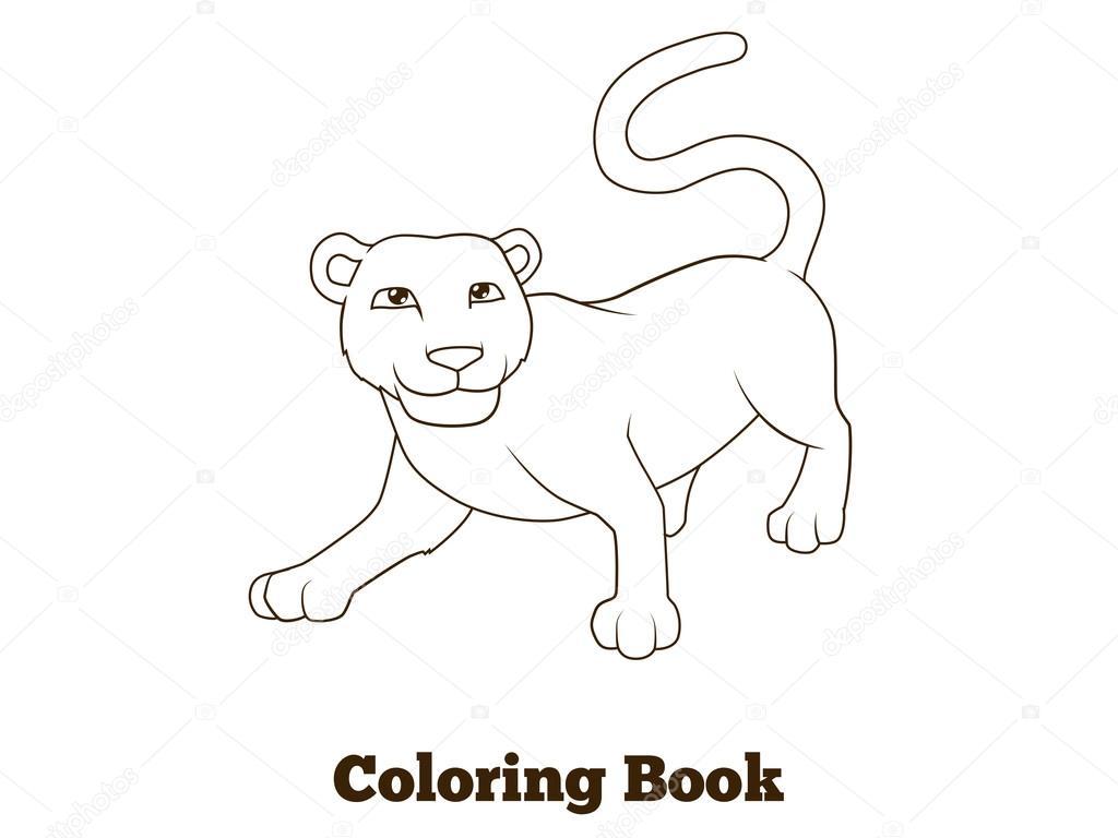 Imágenes Animales Africa Colorear Colorear Libro Pantera Africana