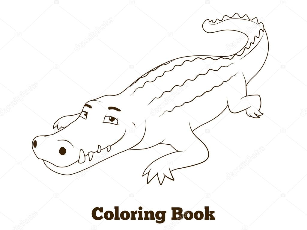 Disegni da colorare degli animali di savana africana del for Coccodrillo da colorare