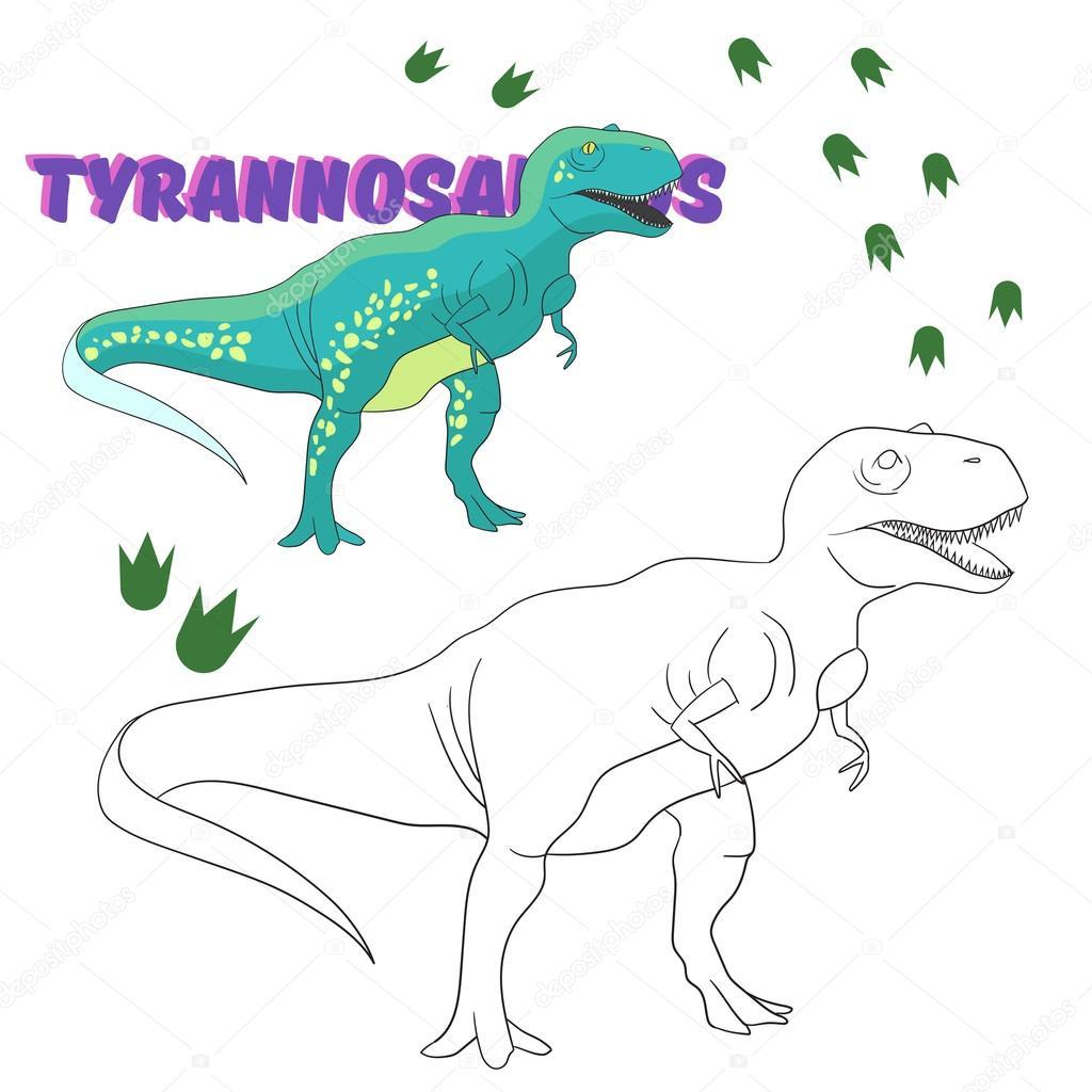 Jeux Coloriage Dinosaure.Enseignement Jeu Coloriage Dinosaure De Livre Image Vectorielle