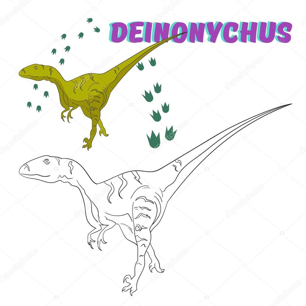 Juego educativo para colorear vector de dinosaurios libro — Vector ...