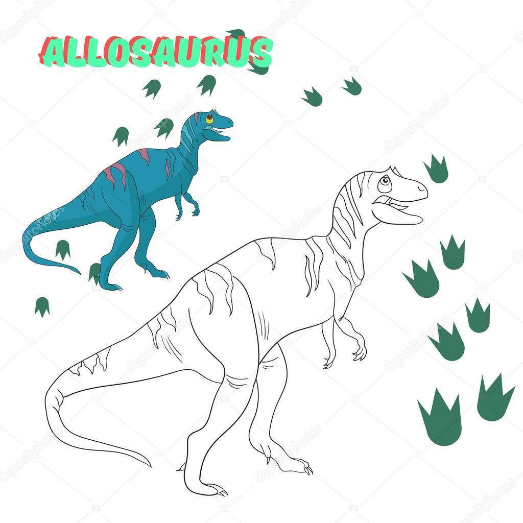 Juego educativo para colorear vector de dinosaurios libro — Archivo ...