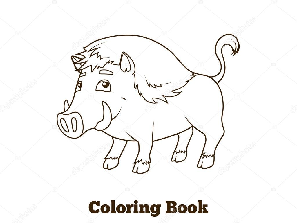 Animado Jabali Para Colorear Dibujos Animados De Animales Jabali