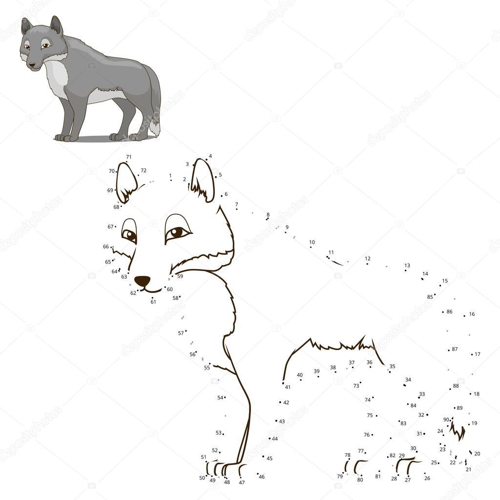 Unire i puntini per disegnare animali gioco educativo
