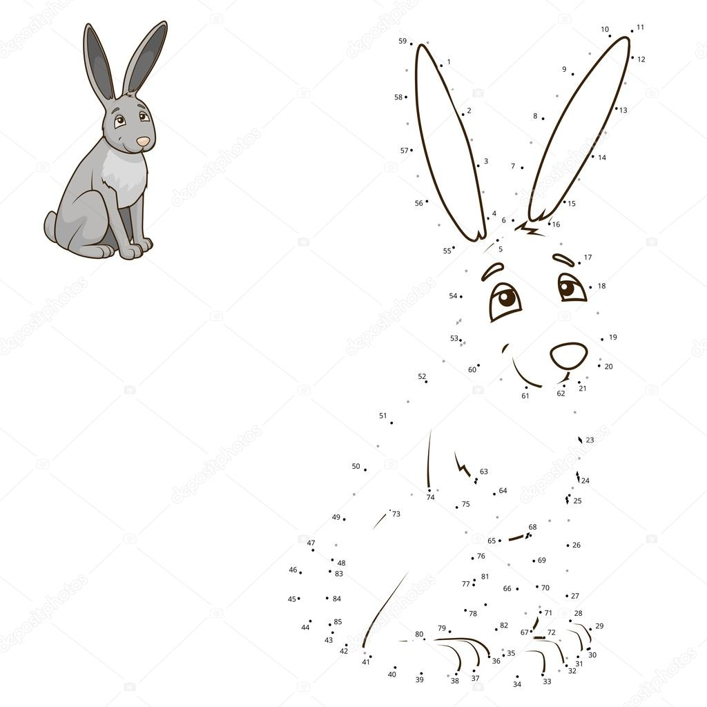 Connect the dots to draw animal educational game Stock Vector ...