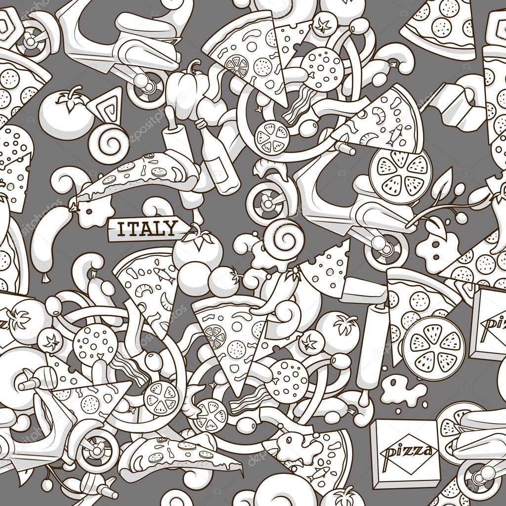 Ilustración de vector de fondo perfecta pizza — Archivo Imágenes ...