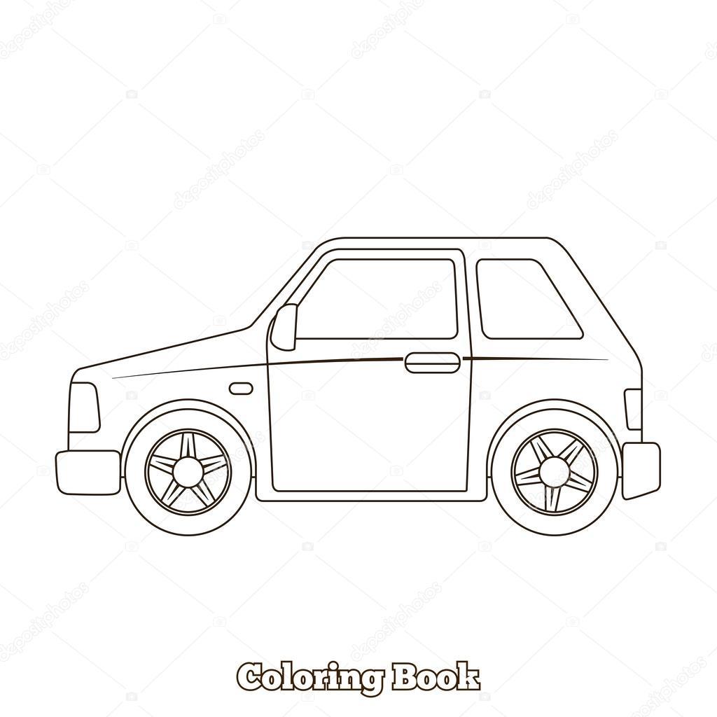 Boyama Kitabı Araba Eğitim Oyun Vektör Stok Vektör