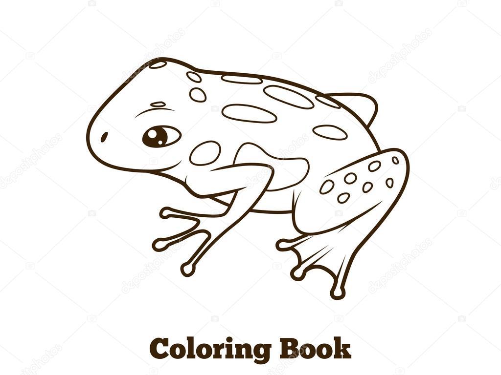 Cartone Animato Rana Libro Da Colorare Vettoriali Stock