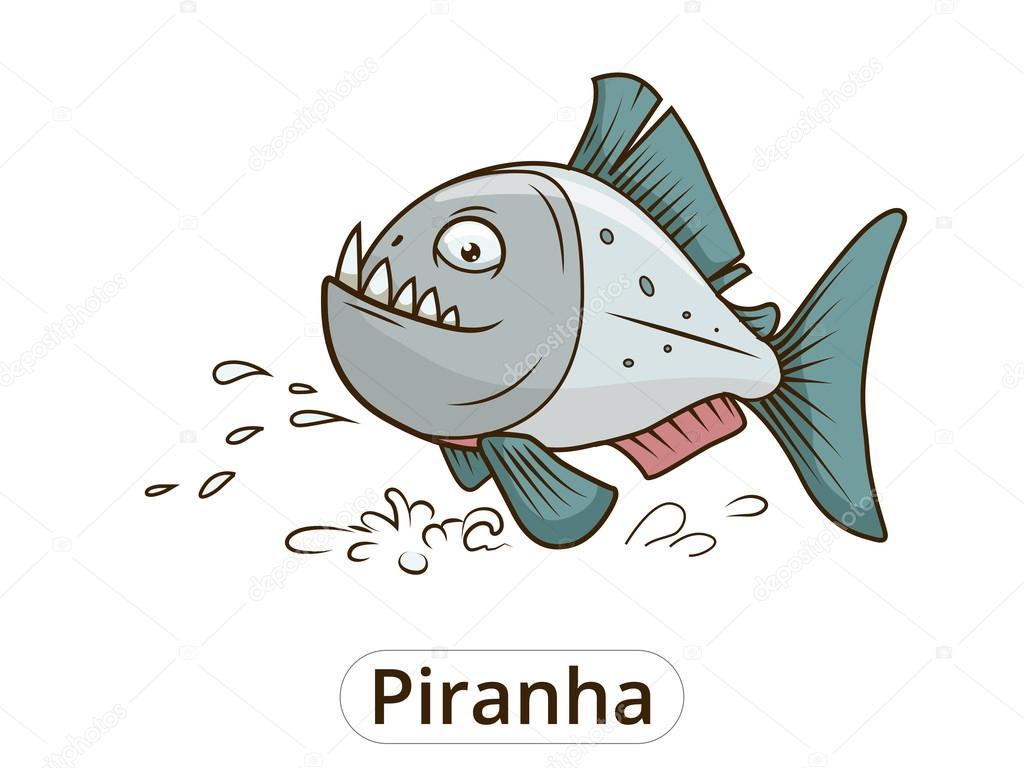 Pesci Del Piranha Del Fumetto Vettoriali Stock Alexanderpokusay