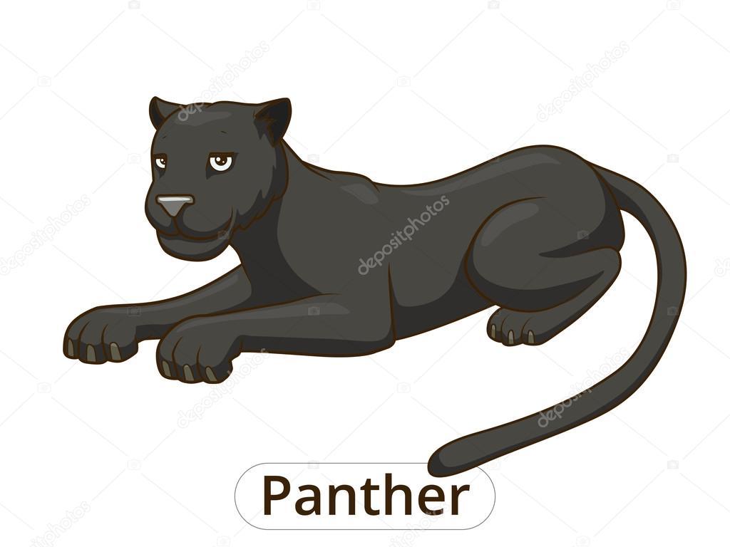 Vector ilustración de dibujos animados de la pantera — Archivo ...