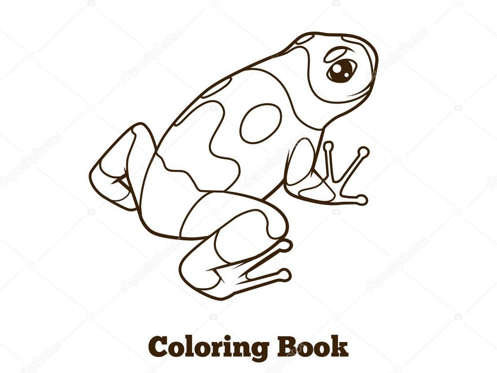 Dibujos Animados De Ranas Para Colorear Vector Libro Archivo