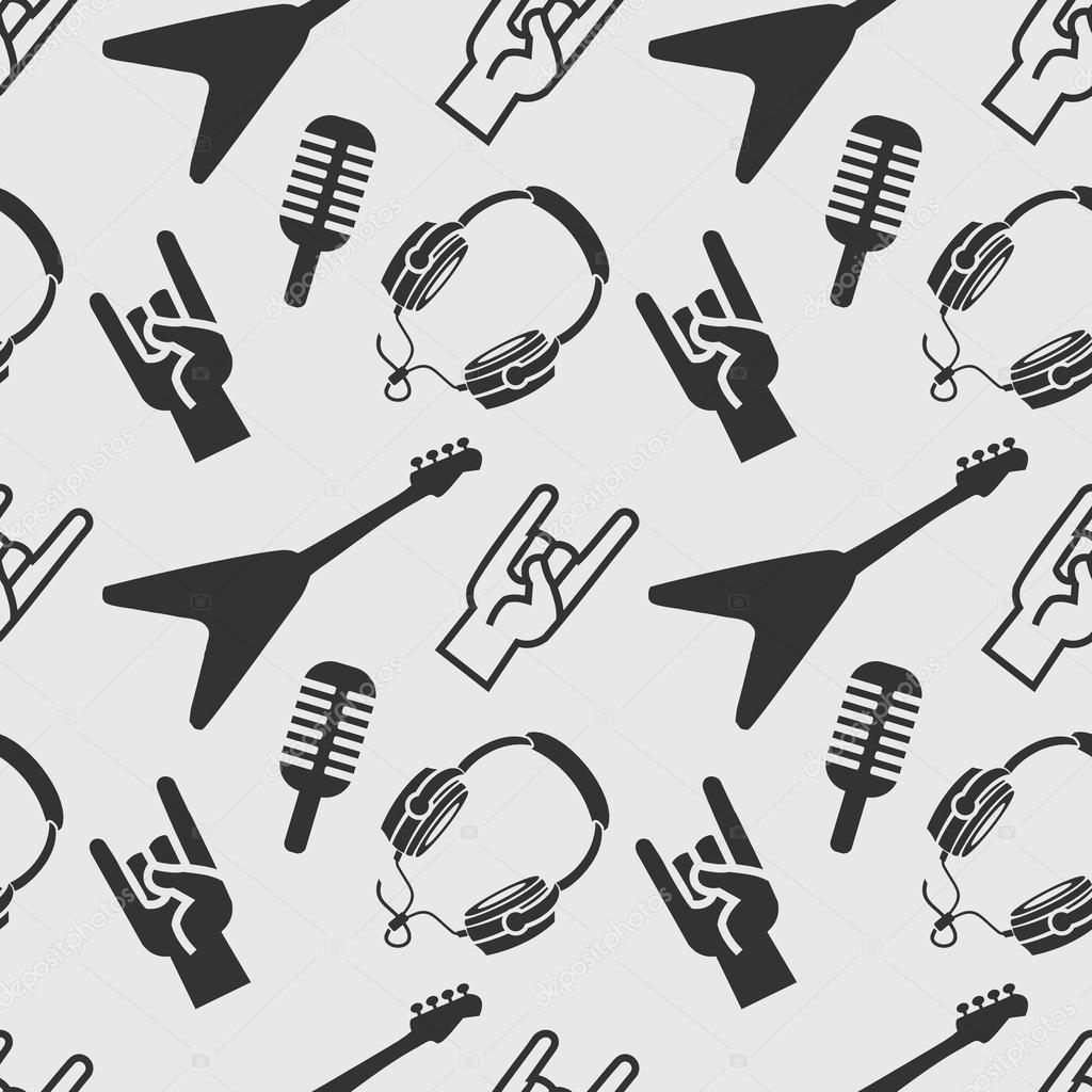 Patrón de rock roll — archivo imágenes vectoriales