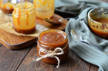 Homemade Caramel Sauce Melted; Salted Caramel