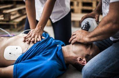 rescuers making resuscitation