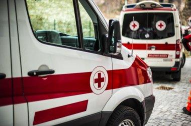 ambulances on the street