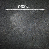 Nabídka název psaný s křídou na tabuli
