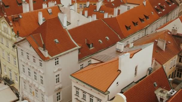 Close-up Tilting Aerial Shot of Prague Old Town Square