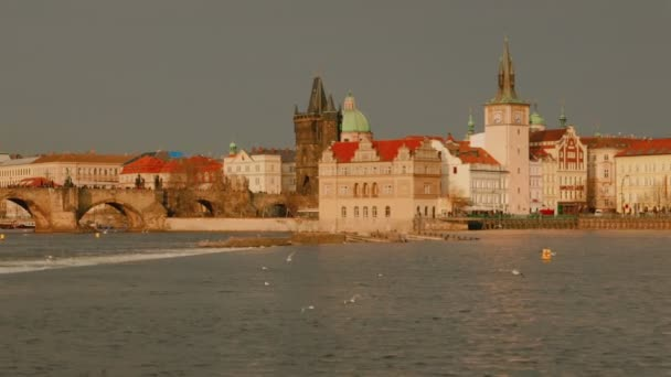 Approaching the Charles Bridge in Prague from South