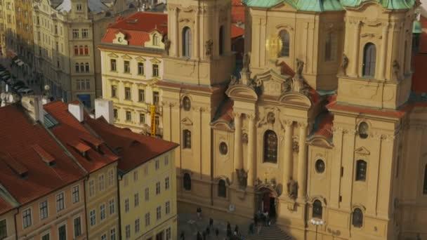 Aerial Shot of the St Nicholas Church in Prague