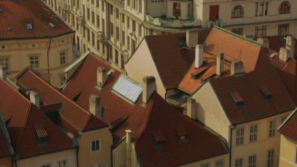 Aerial Shot of the Mala Strana District Leading to the Prague Castle