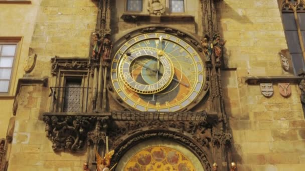 Close-up Shot of the Astronomical Clock in Prague