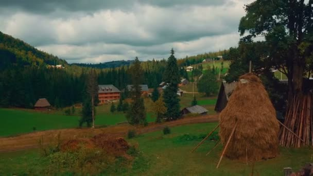 Pastoral Scene in the Romanian Countryside on an Overcast Day - Wide Angle