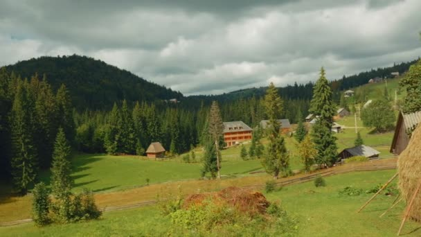 Pastoral Scene in the Romanian Countryside on an Sunny Day - Wide Angle