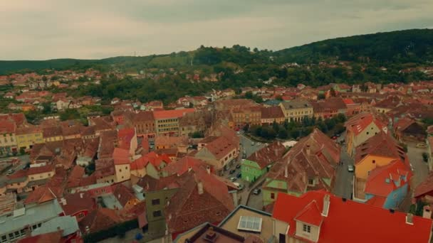 Panoramic View of Sighisoara City in Transylvania, Romania