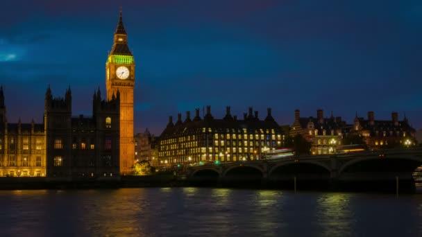 Big Ben večer Timelapse