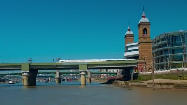 Nonstop Pov Boat Trip Hyperlapse v řece Temži, Londýn, Velká Británie