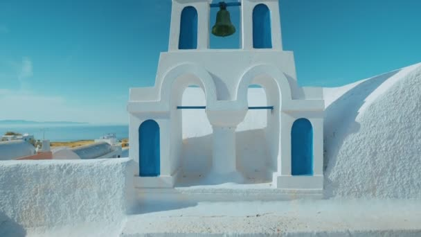 Ultra Wide Angle Traditional Cycladic Mediterranean Church with a View to the Sea