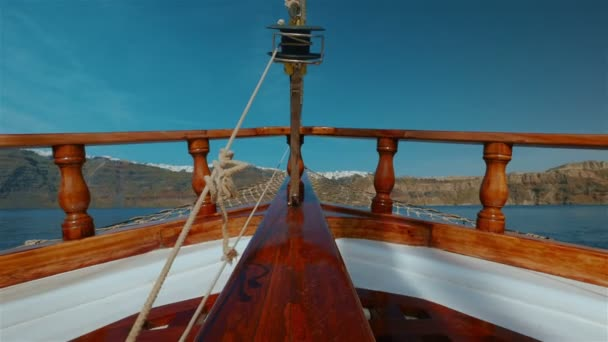 Sailing Through the Mediterranean Low Angle POV