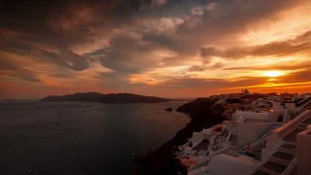 Greek Santorini Caldera Timelapse from Sunset to Night Time