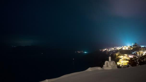 Greek Santorini Caldera Timelapse from Night to Dawn