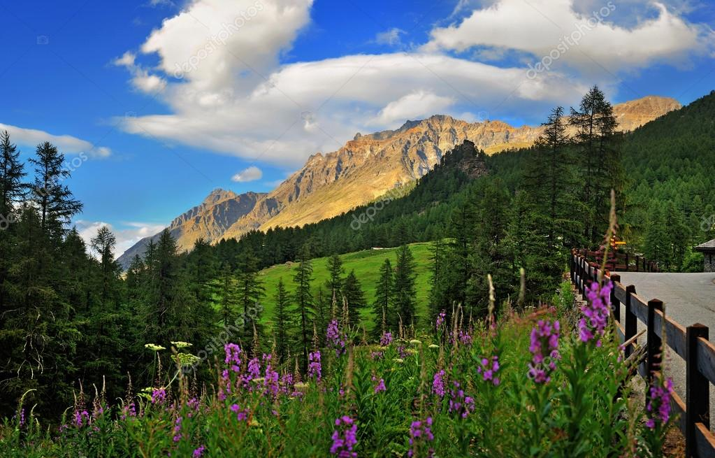 mountains in Val di Rhmes, Valle dAosta, Italy, Europe