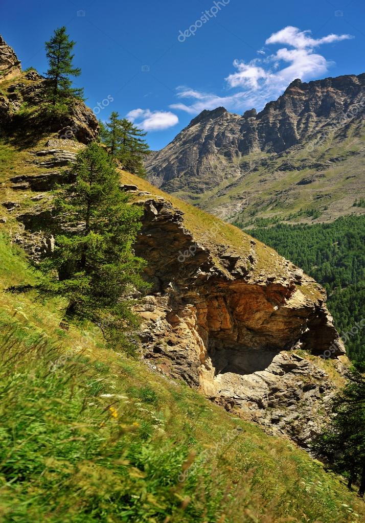 rocks in alpien Gran Paradiso National Park, Valle dAosta