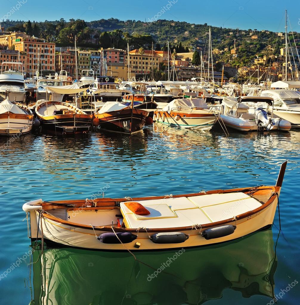 boat in harbor Santa Margherita, Ligure