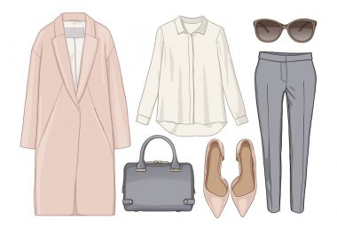 Fashion female set of outfit