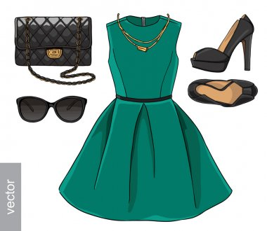 Stylish and trendy female clothing