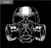 Photo gas mask illustration